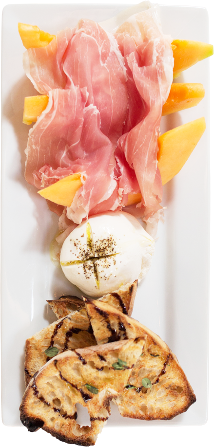Burrata with Melon & Prosciutto