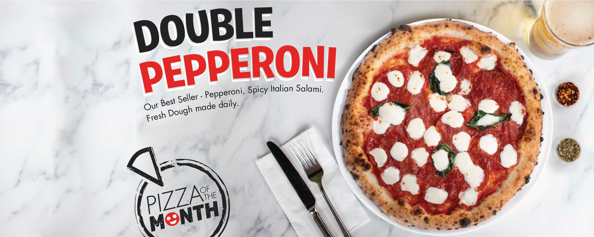 May Pizza of the Month, Double Pepperoni Pizza